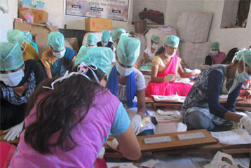 SANITARY NAPKIN PRODUCTION BY RURAL WOMEN
